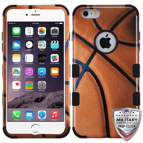 ShopAegis - [HYBRID DESIGN] [Orange] Basketball Player Ball Shockproof Phone Case Cover for Apple iPhone 6/6s Plus +