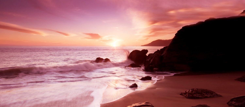 "LARGE BEACH CANVAS ART STUNNING CALM SEASCAPE 44/""x 20/"""