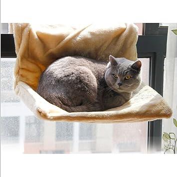UEETEK Gato hamaca cama colgante caliente cama peluche cesta cuna gato de base amplia: Amazon.es: Deportes y aire libre