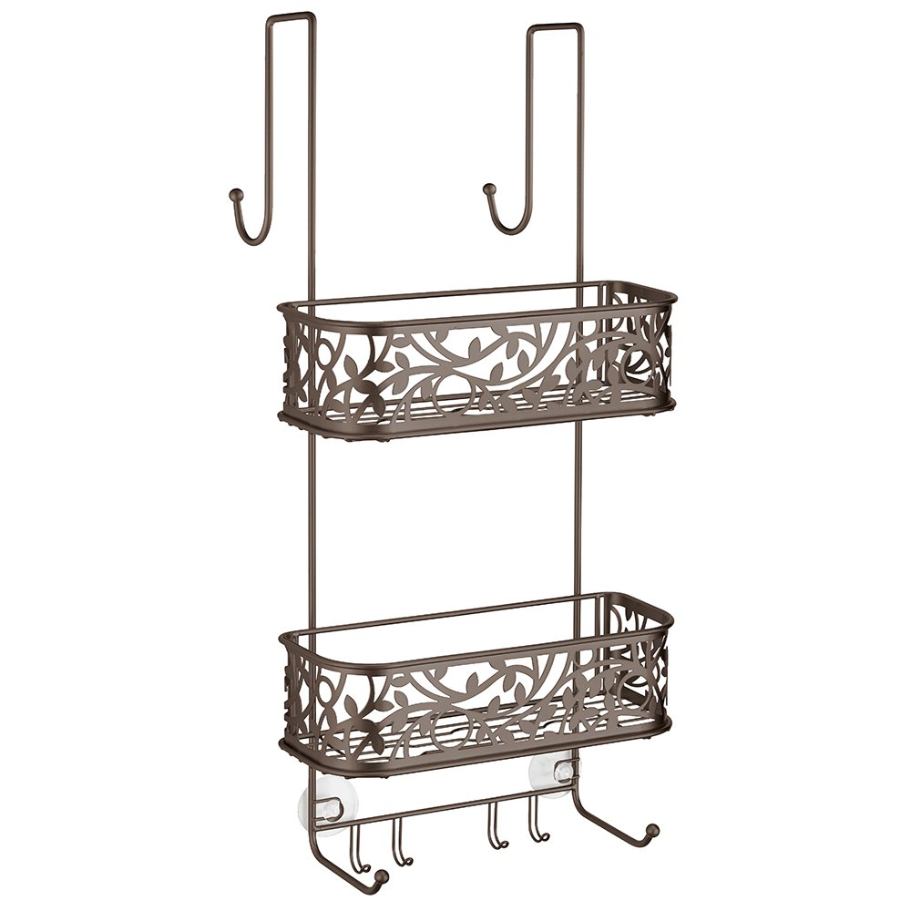 Amazon.com: InterDesign Vine Over Door Shower Caddy – Bathroom ...