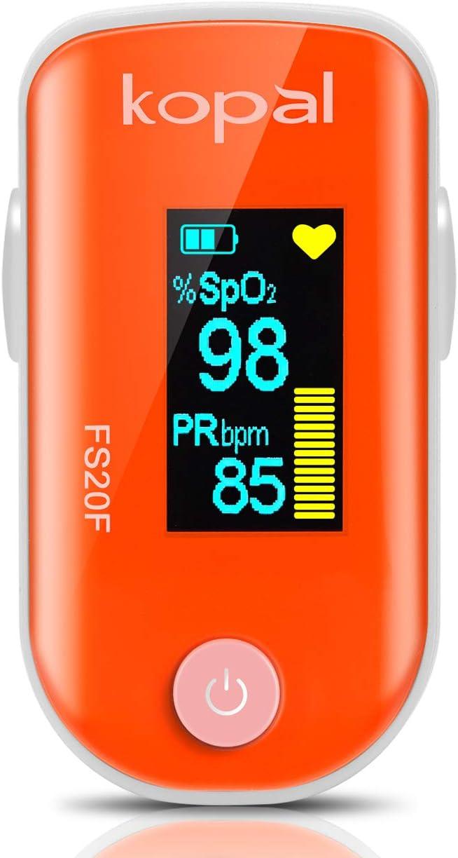 Oxímetro de Pulso, Pulsioximetro de Dedo Profesional con Pantalla OLED que Medición y Lectura Instantánea de SpO2, PR y PI Aplica para Adultos y Niños(Plata-Negro)