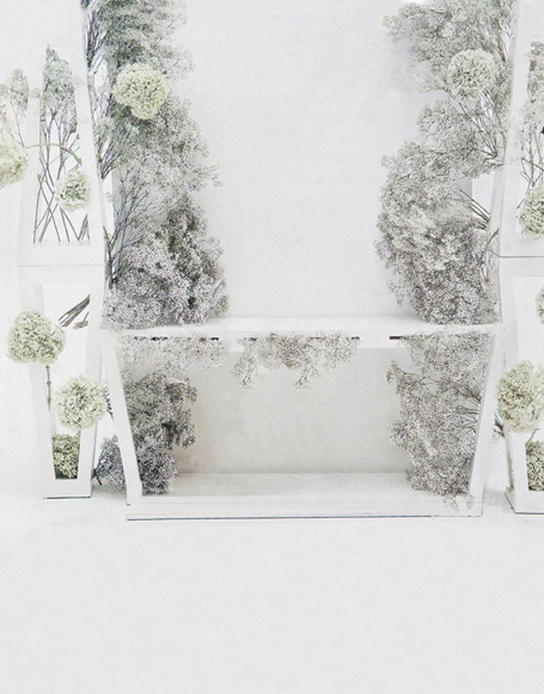 グレー花ツリー写真の背景幕写真小道具Studio背景5 x 7ft   B01H3KMDAE