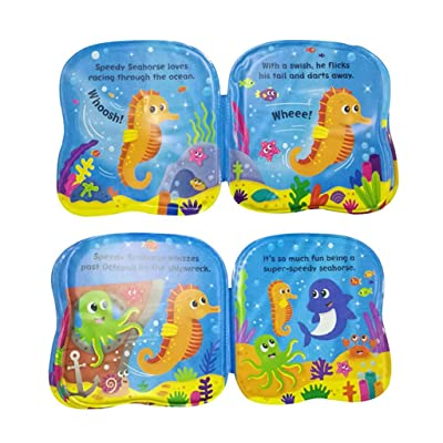 Elaco Learning Stationery Waterproof Educational Infant Bath Floating Baby Bath Books Kids Bathtime Sea World: Home & Kitchen