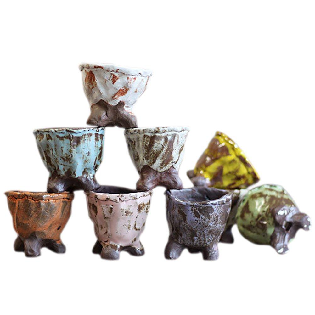 Wicemoon tarros de cerámica Serie de pelota/suculenta/planta en maceta/Cactus/maceta de flor/cultiver: Amazon.es: Hogar