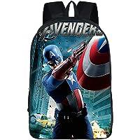 GD-fashion Marvel Avengers mochila ligera de los Vengadores bolsa durable superhéroe mochila-Kids Back to School Bookbag, Patrón 12, Una talla