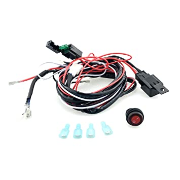 61VaBQdJDXL._SY355_ generic universal 12v 40a car fog light wiring harness kit loom universal fog light wiring harness at gsmportal.co