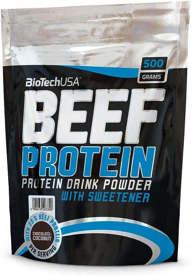 Biotech USA Beef Protein Hydro Beef Proteínas Sabor Chocolate y Coco - 500 gr