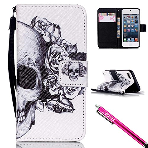 ipod-touch-5-touch-6-case-firefish-kickstand-pu-leather-flip-purse-case-slim-bumper-cover-with-lanya