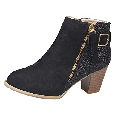 Logobeing Zapatos Planos Mujer Botines Tubo Corto de Mujer Más Terciopelo Algodón Zapatos Botas Botas Casual