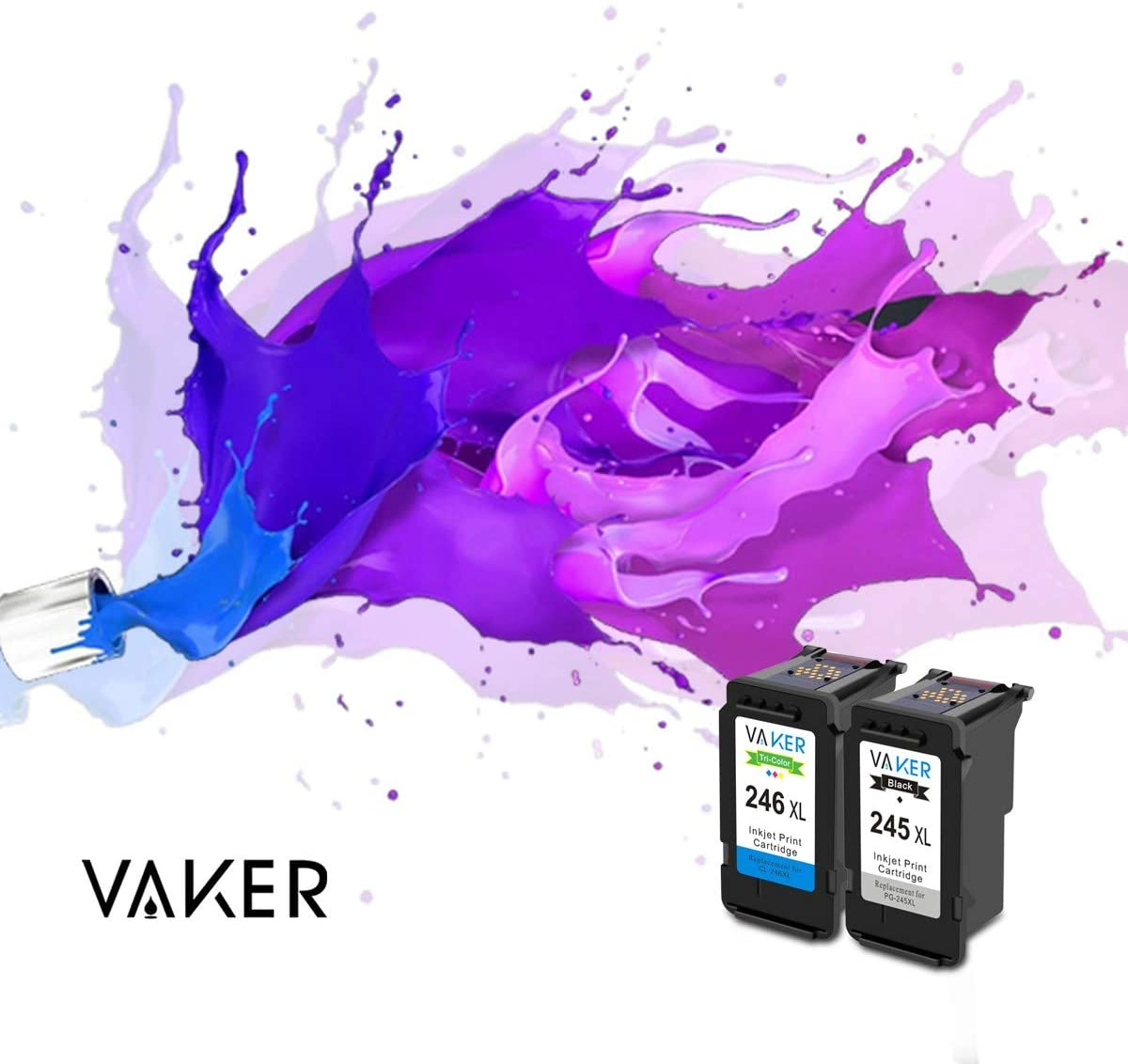 Amazon.com: VAKER - Cartucho de tinta remanufacturado de ...