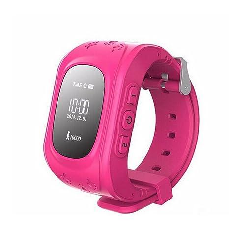 Amazon.com: GPS Watch for Kids W5 Personal GPS Tracker Watch ...