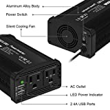 GELOO 300W Power Inverter, DC 12V to 110V AC Car