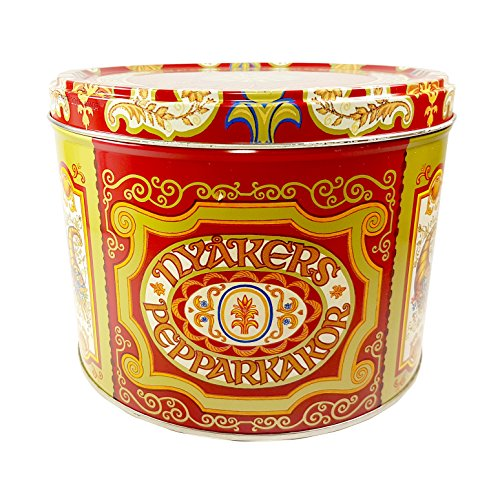 Nyakers Pepparkakor Swedish Gingersnap Gift Tin Shipping Pack 26.45 Oz. (1.65 (Best Ginger Snaps)