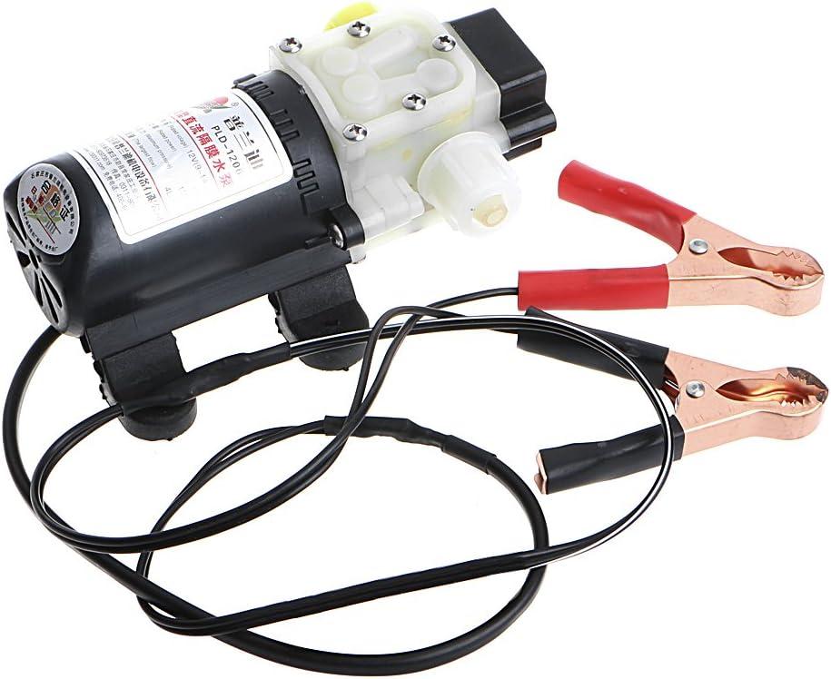 Bomba de transferencia de combustible diésel y aceite eléctrico para coche, 12 V, 45 W, con clip de cocodrilo: Amazon.es: Hogar