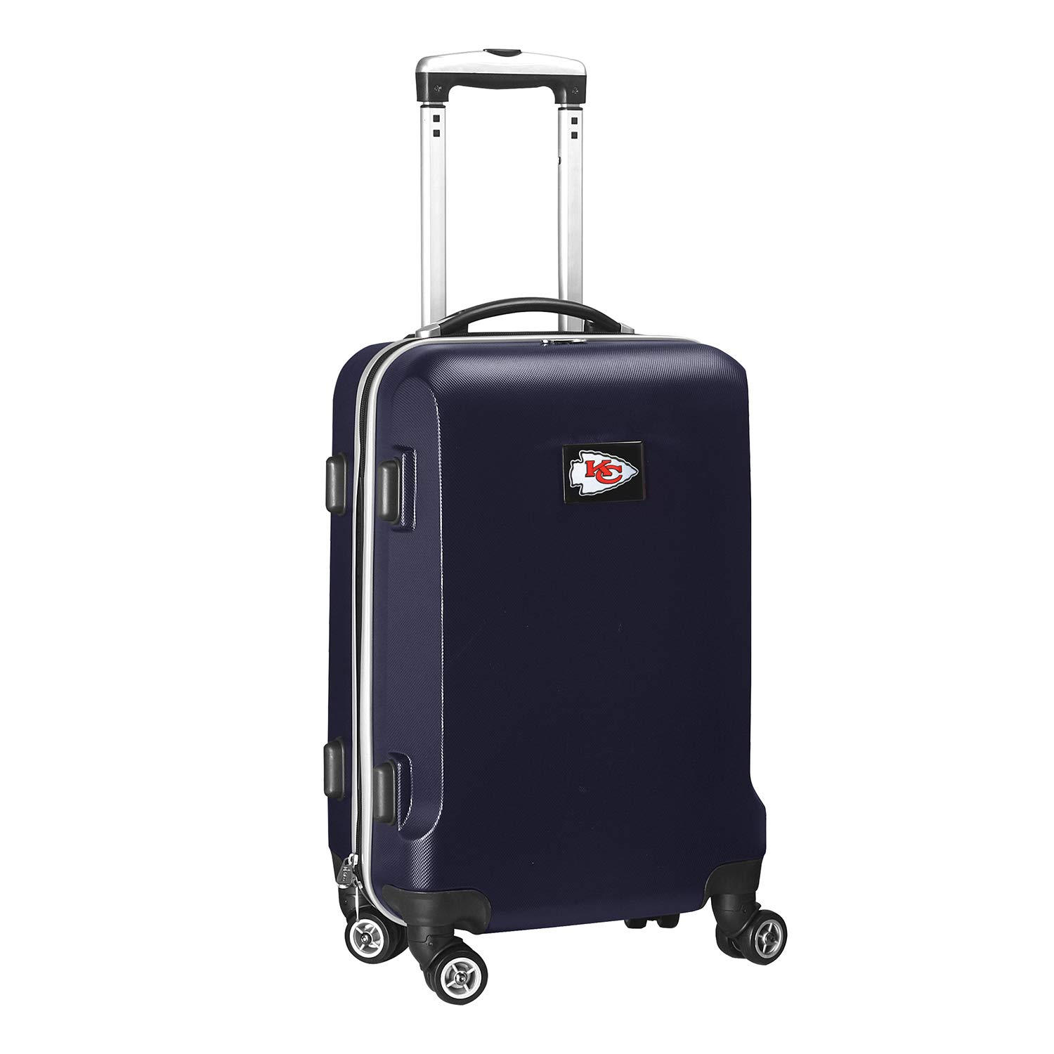 Denco NFL Kansas City Chiefs Carry-On Hardcase Luggage Spinner, Navy