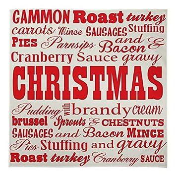 L&S PRINTS Weihnachten groß Warm Sofa Fleece Überwurf Wort ...