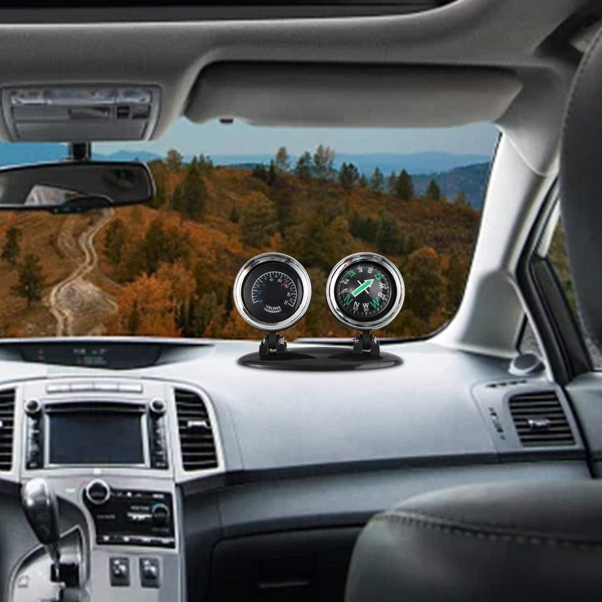 2 in 1 Guide Ball Auto Kompass Thermometer Auto Ornamente Richtung ArmatureO/_yk