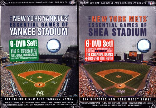 The New York Mets - Essential Games of Shea Stadium Set ,The New York Yankees- Essential Games of Yankee Stadium Set : NEW YORK 2 PACK -