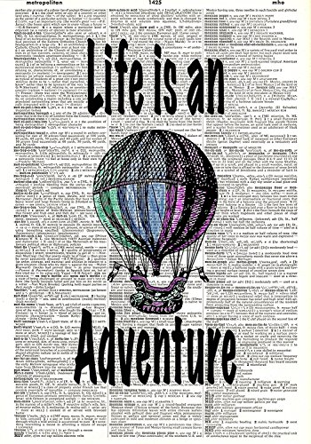 60x80 Blanket Comfort Thin Soft Air Conditioning Hot Air Balloon Print Life is an Adventure Dictionary