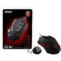 MSI INTERCEPTOR DS B1 Optical GAMING Mouse '1600 DPI Optical Sensor, 6 button, 3-Zone Lighting, Ergonomic design, Weight…