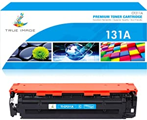 True Image Compatible Toner Cartridge Replacement for HP 131A CF211A Laserjet Pro 200 Color M251nw MFP M276nw M276n M276 M251n M251 Printer Ink (Cyan,1-Pack)