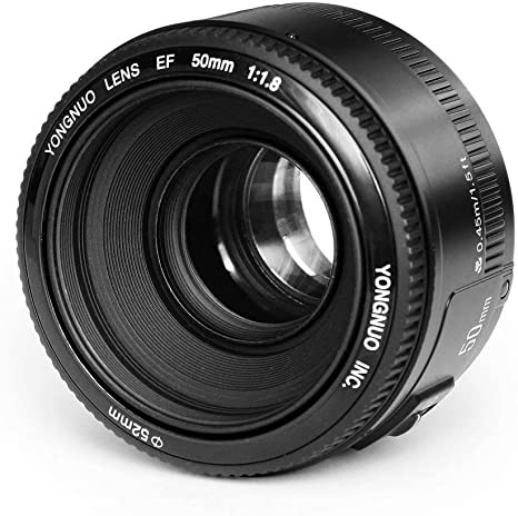 Objetivo EF YN de distancia focal fija, de la marca Yongnuo, para ...