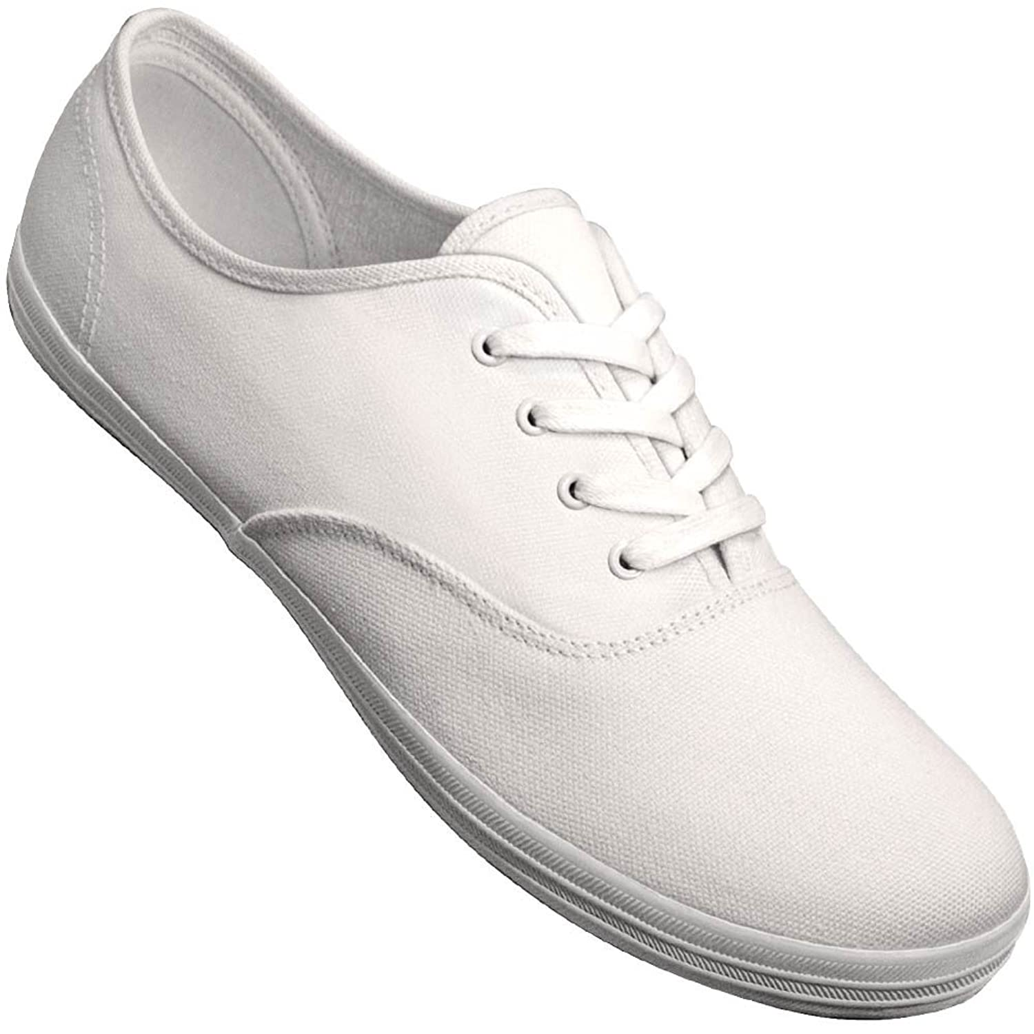1950s Mens Shoes: Saddle Shoes, Boots, Greaser, Rockabilly Aris Allen Mens White Classic Canvas Dance Sneaker $48.95 AT vintagedancer.com