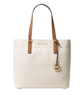 5ff845907b18 Amazon.com: Michael Kors Women's Morgan Medium Tote Shoulder Handbag  Signature Logo Vanilla: Clothing