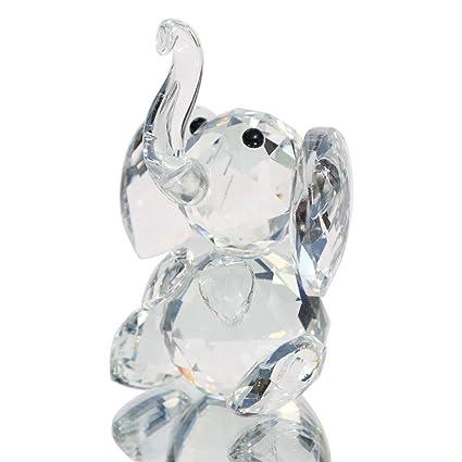 Amazon Com Waltz F Crystal Elephant Figurines Collectibles Glass