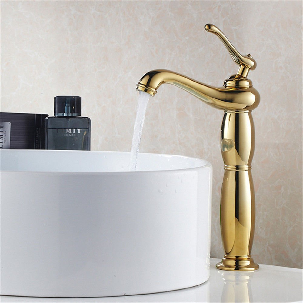 FERZA home Sink Mixer Tap Bathroom Kitchen Basin Tap Leakproof Save Water Antique Copper Hot And Cold Bath