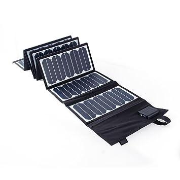 KINGSOLAR 60W portátil Sunpower plegable solar panel del cargador con DC 18V y cargador de salida USB 5V para portátiles Tablet portátiles y cualquier ...