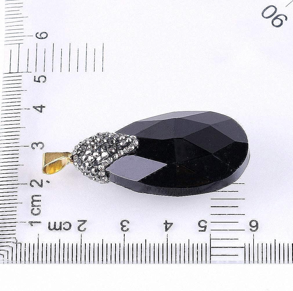 Xileg White Champagne Black Faceted Glass Crystal Water Drop Pendants Friendship Men Necklaces Rhinestone Cap Boho Jewellery E670