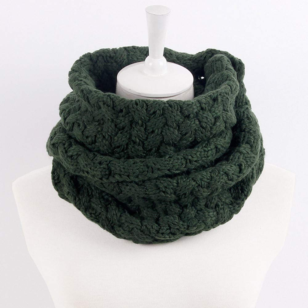 Beige Gallity Men Women Twist Thick Winter Knitted Infinity Scarf Circle Loop Scarf