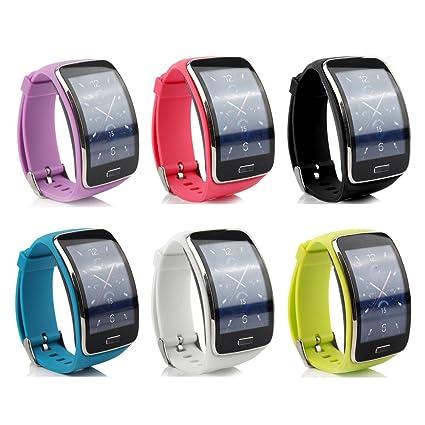 ensun Samsung Galaxy Gear R750 bandas de silicona pulseras de repuesto con Cierres metálicos para Samsung