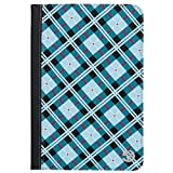 VanGoddy Mary 2 Self Stand Portfolio Case Cover with Card Slots fits 7 to 8 Inch Tablets, Blue Checker