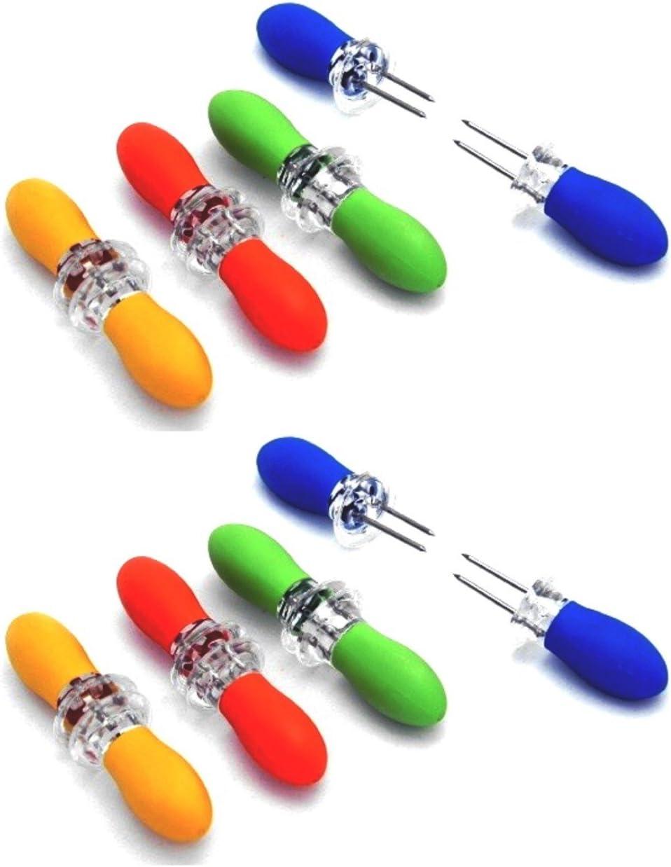 Chef Craft Interlocking Jumbo Corn Holder 4 pair (2 Packs)
