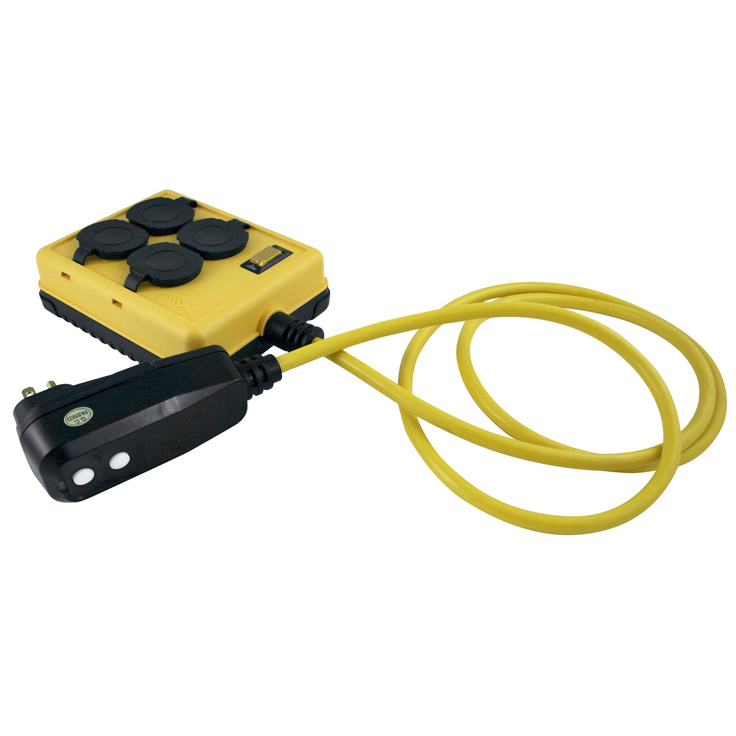 Yellow Jacket 2516 14/3 GFCI Protected 4-Outlet Power Box with 6-Foot Cord