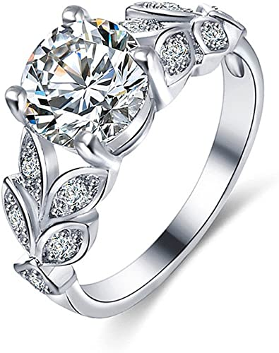 Amazon Com Bookear Flower Crystal Wedding Ring For Women Jewelry Accessories Rose Gold Gold Engagement Ring Jewelry