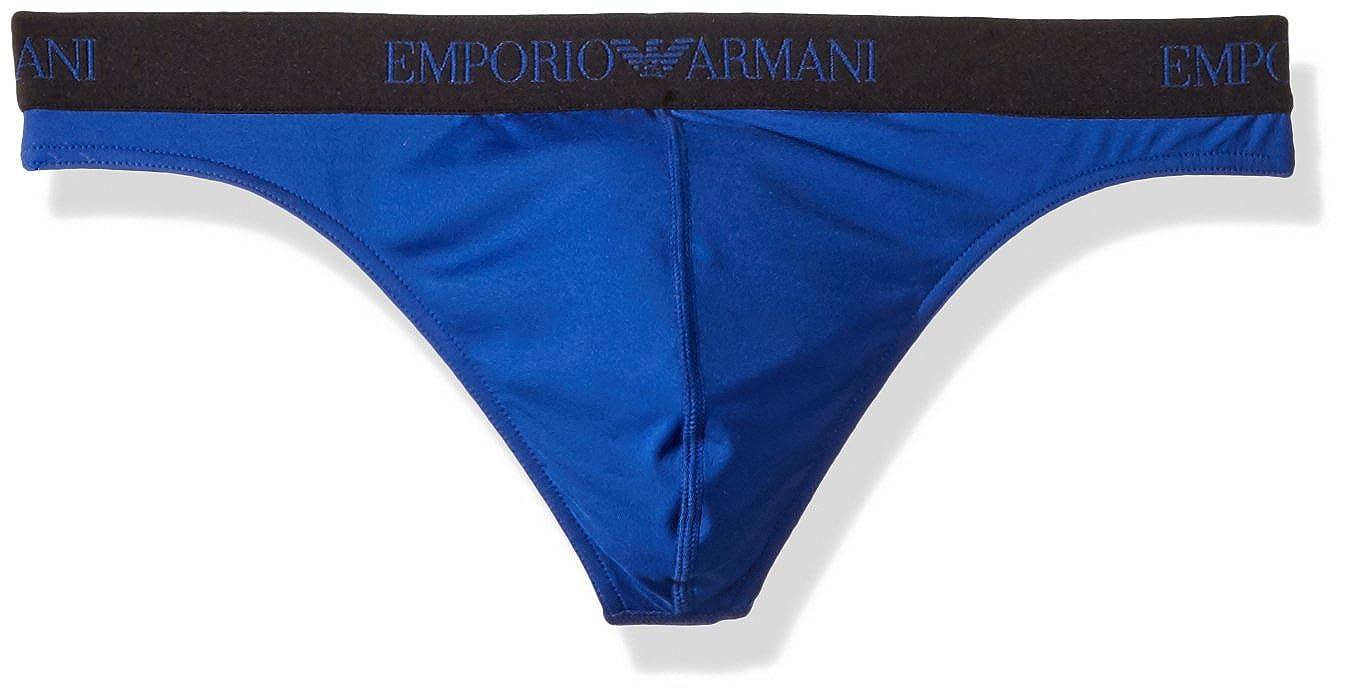 Emporio Armani Men's Essential Microfiber Thong 111215-9P535-00044