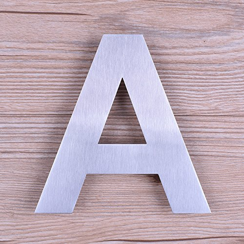 Mellewell 6-Inch Floating Letters Number Sign House Letter A Brushed Nickel, Made of Stainless Steel 304, HN06-A