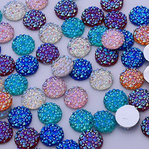 50pcs 12mm round crocodile Cabochons Resin Embellishments cabochon,Prism Cabochons,prism jewelry supply