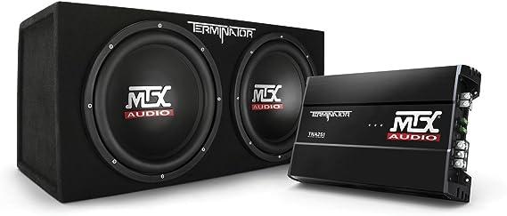 MTX Audio TNP212D2 Terminator Power Pack Subwoofer System - Set of 2
