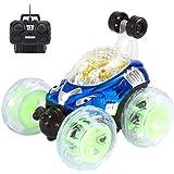 Voiture de contrôle à distance,360 ° spinning et flips avec la couleur Flash & musique pour les enfants de contrôle à distance camion Chargeur de télécommande RC voiture Camion RC by LHWY (Bleu)