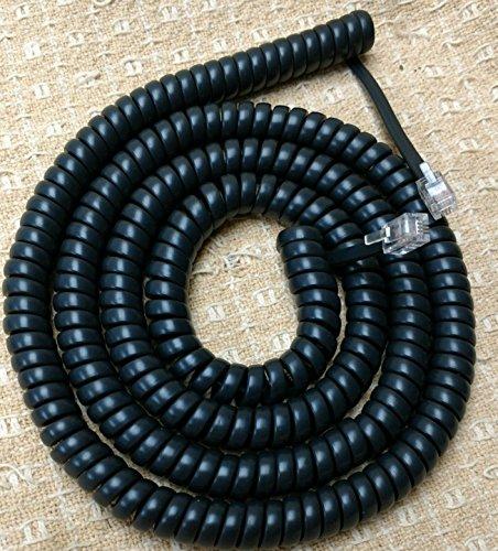 by DIY-BizPhones Lot of 5 Charcoal Gray 9 Ft Handset Phone Cords for Toshiba DKT3000 DKT3200 DKT2000 EKT IPT Series DKT2010 DKT2020 DKT3010 DKT3014 DKT3020 DKT3210 DKT3214 DKT3220 H S SD SDL Black