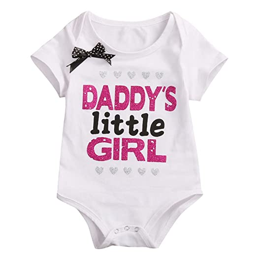 f37e0413d Amazon.com  DADDY S LITTLE GIRL Baby Bodysuit  Clothing