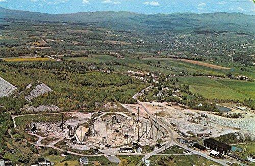 Postcard Birdseye View (Barre Vermont Wells Lamson Granite Quarry Birdseye View Vintage Postcard K62378)