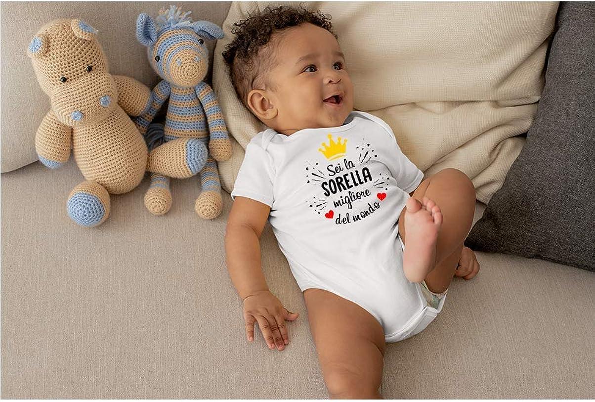 Body Simpatico e Divertente Colorfamily Body da Neonato Sei la Sorella Migliore del Mondo Idea Regalo