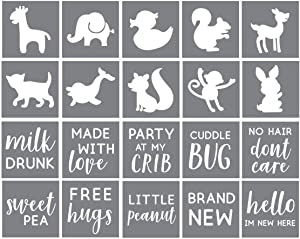 Onesie Decorating Kit - Set of 20 Stencils for Making Baby Shower Onesie Designs - Onesies Decorating Kit - Baby Shower Stencils - Baby Shower Stencils for Painting Onesies