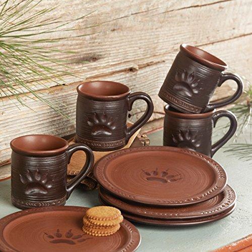 Black Forest Decor Bear Paw Mugs - Set of 4