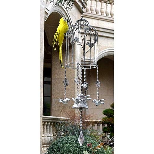 Adornos al Aire Libre para el jardín Carillón de Viento de pájaros ...